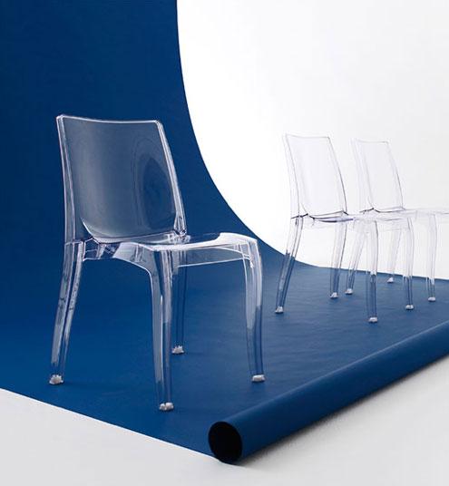 Sillas italianas ambiente design for Sillas cristal
